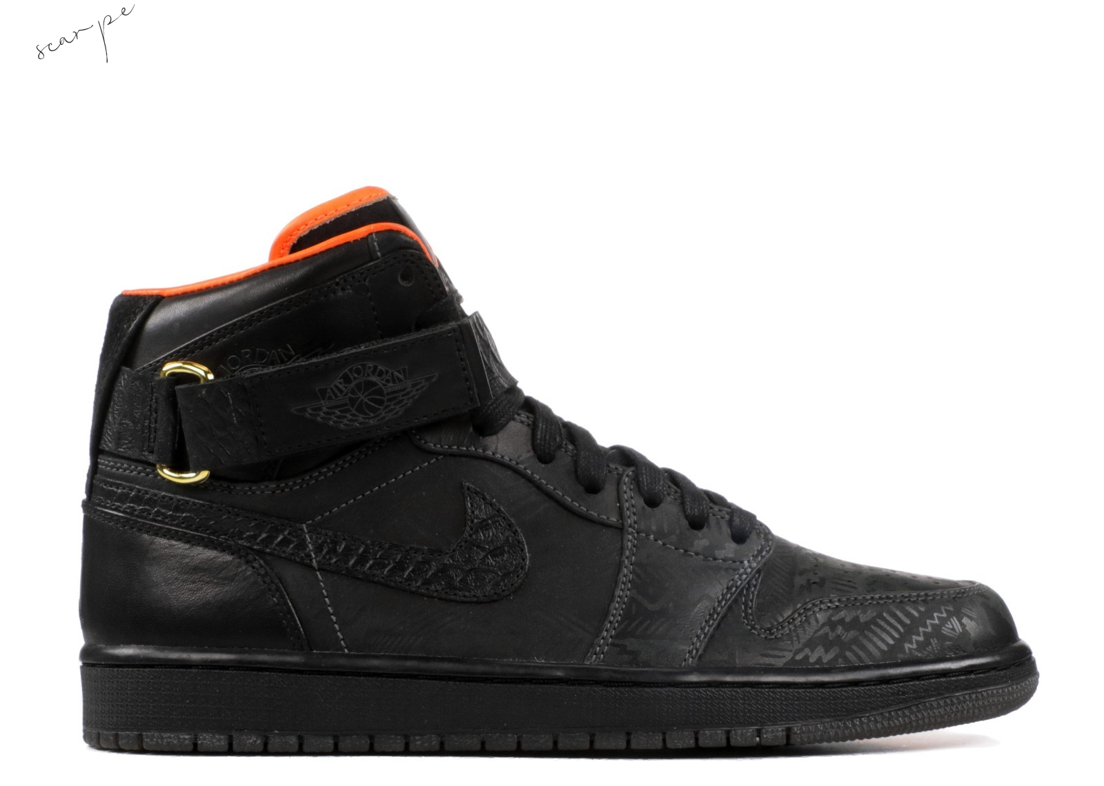 "Vendite Air Jordan 1 High Strap Promo ""Just Don Bhm"" Nero (386009-xc) Scarpe Online"