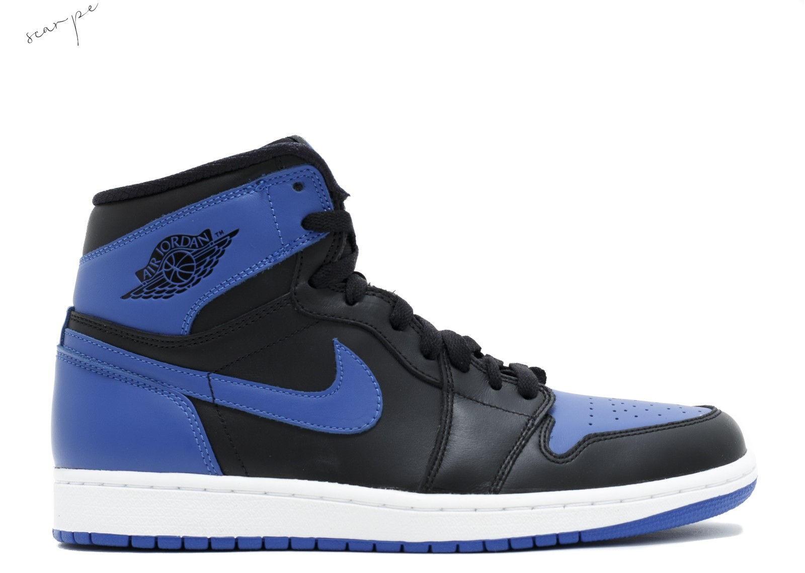 "Vendite Air Jordan 1 Retro High Og ""2013 Release"" Nero Blu (555088-085) Scarpe Online"