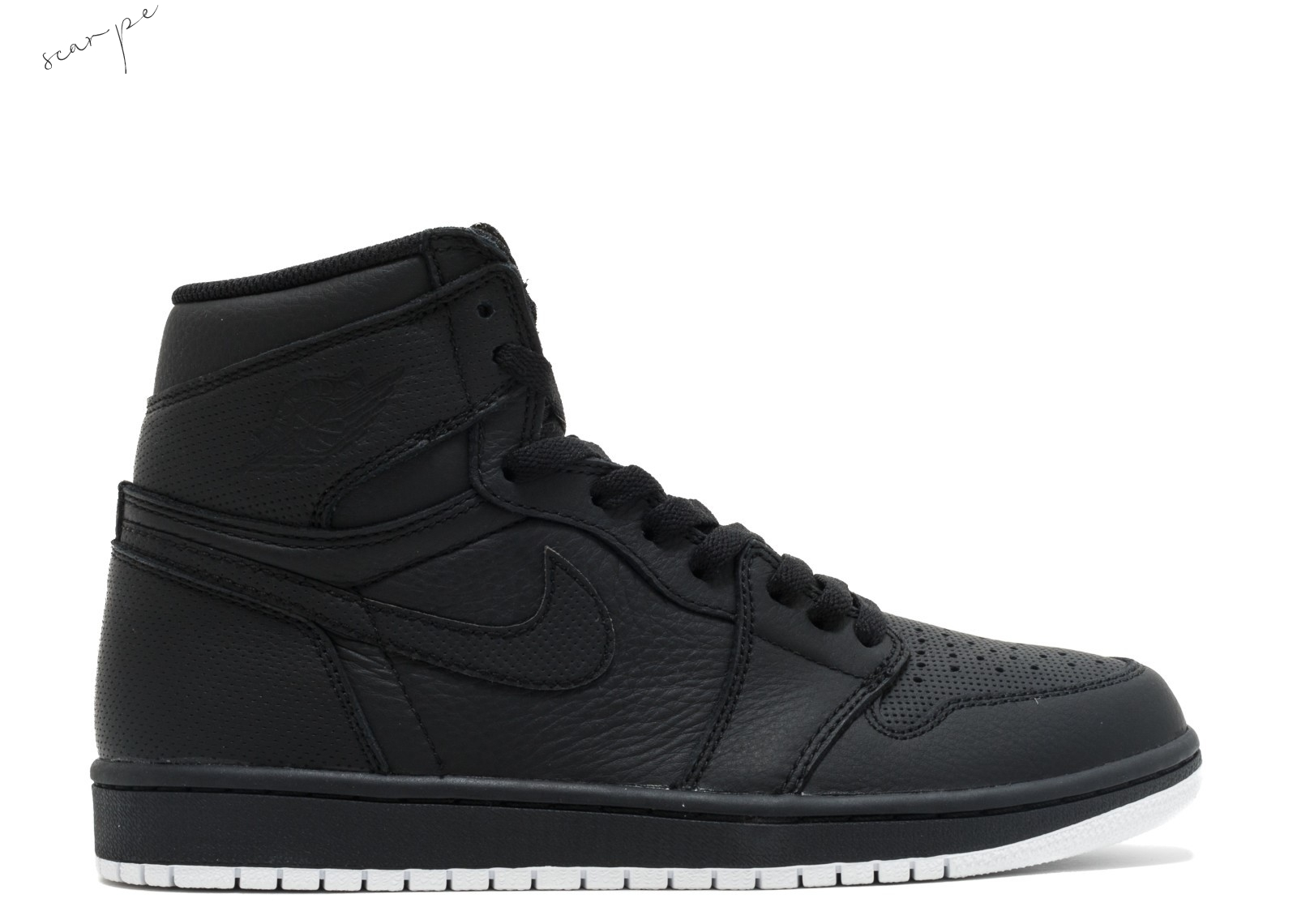 "Vendite Air Jordan 1 Retro High Og ""Perforated"" Nero (555088-002) Scarpe Online"