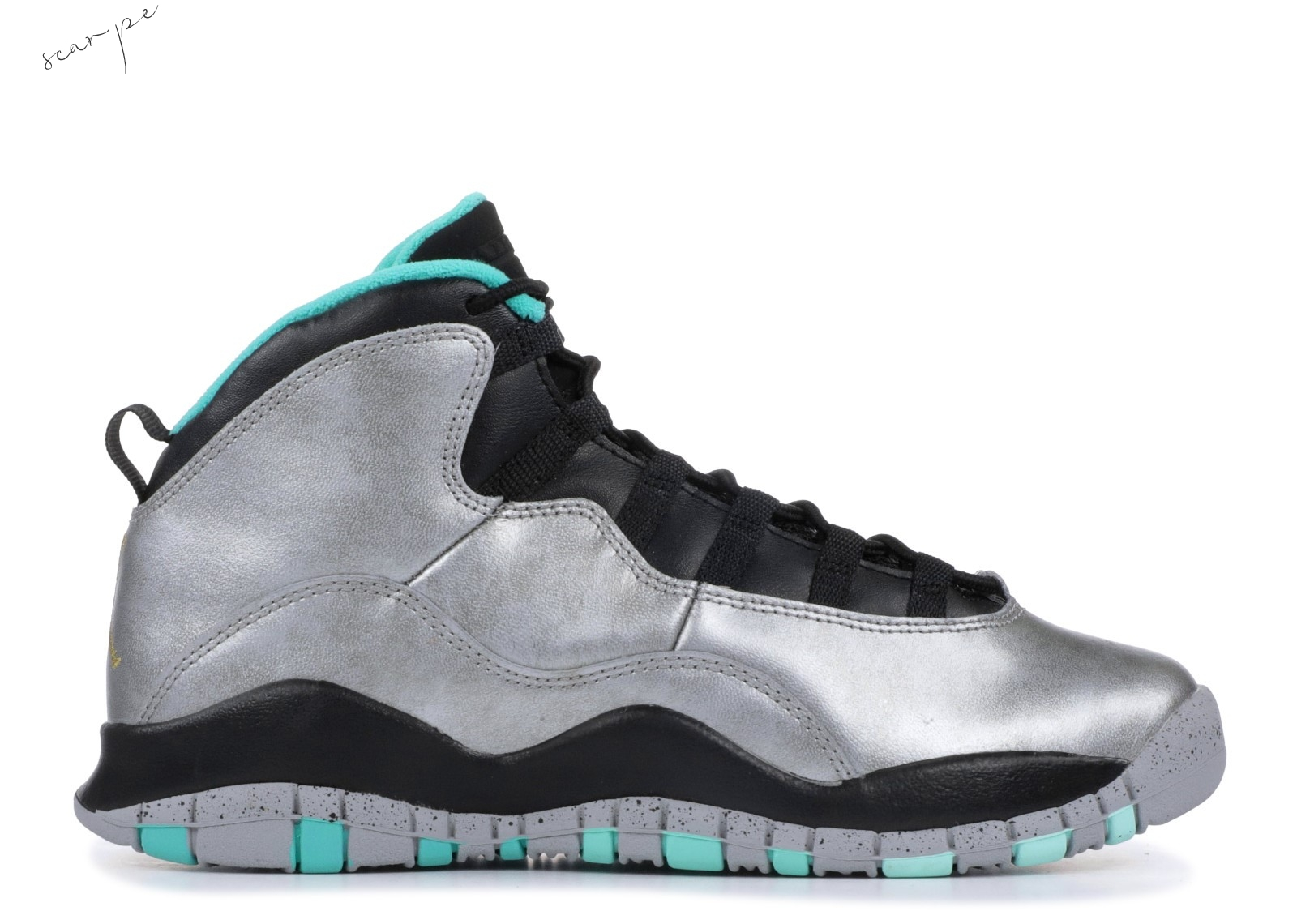 "Vendite Air Jordan 10 Retro 30Th Bg (Gs) ""Lady Liberty"" Metallico Argento (705179-045) Scarpe Online"