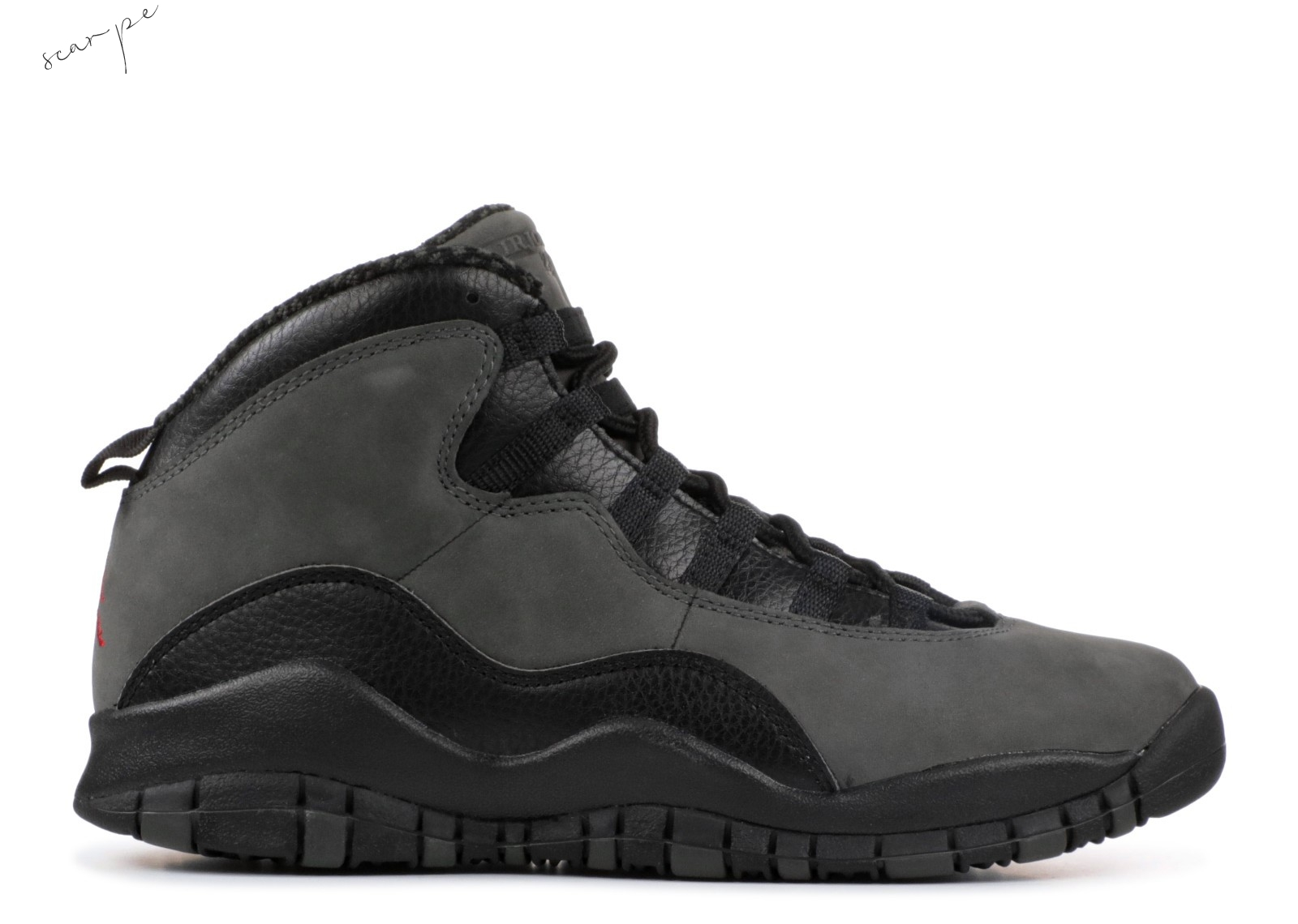 "Vendite Air Jordan 10 Retro Bg (Gs) ""Dark Shadow"" Gris Nero (310806-002) Scarpe Online"