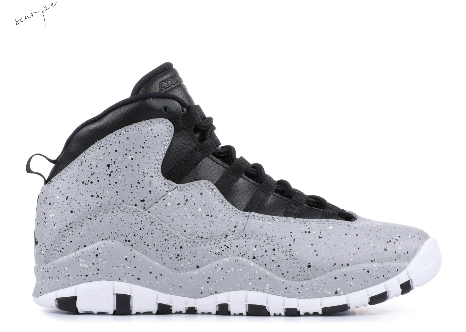 "Vendite Air Jordan 10 Retro (Gs) ""Cement"" Gris Nero (310806-062) Scarpe Online"