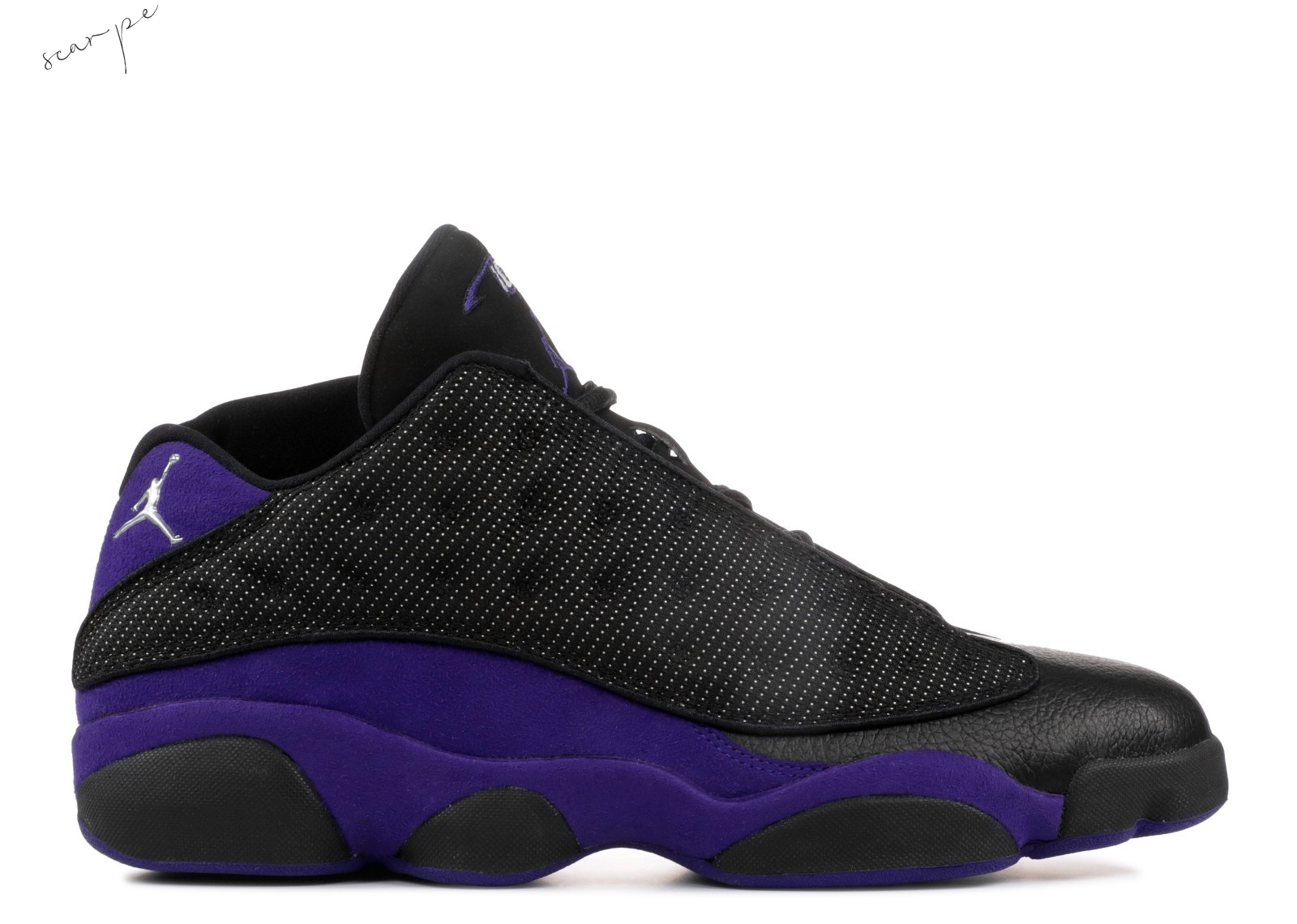"Vendite Air Jordan 13 Low Pe ""Mike Bibby Kings Away"" Nero Porpora (jbm265-m20) Scarpe Online"