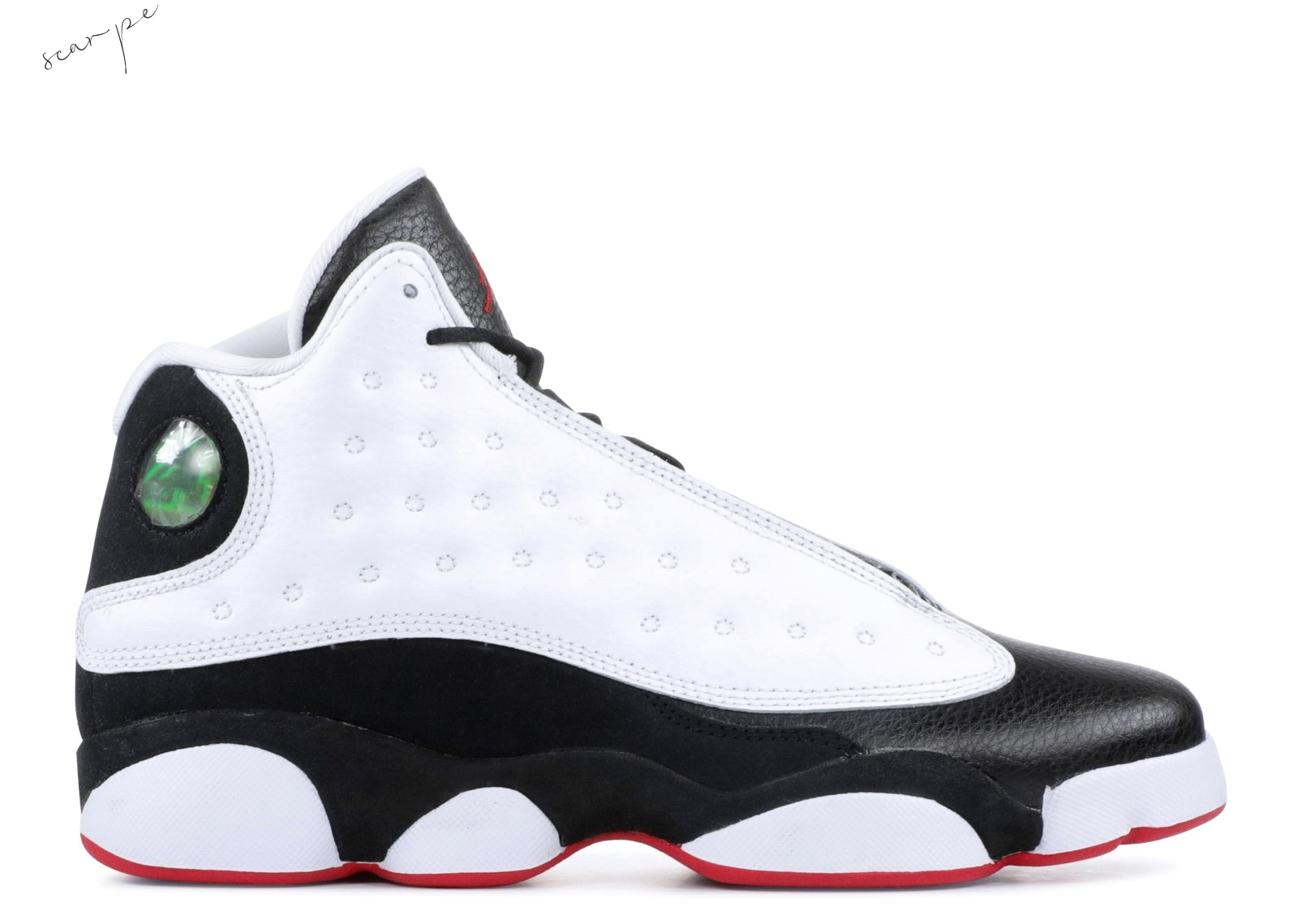 "Vendite Air Jordan 13 Retro Bg (Gs) ""He Got Game"" White Black (884129-104) Scarpe Online"