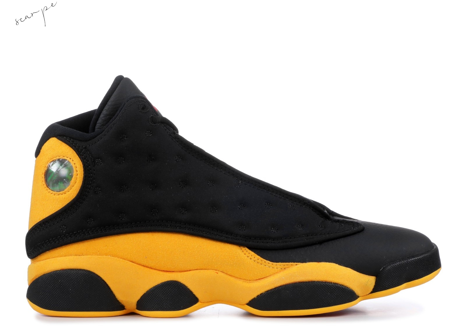 "Vendite Air Jordan 13 Retro ""Melo Class Of 2002 ""B Grade"""" Nero Giallo (414571-035) Scarpe Online"