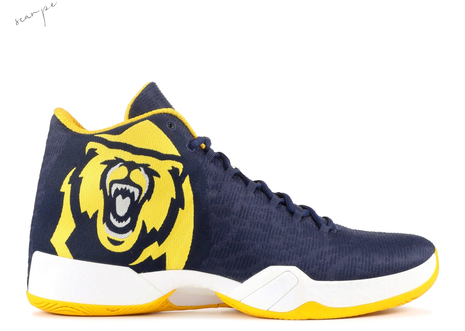 "Vendite Air Jordan 29 ""Cal State Golden Bears"" Navy Giallo (bom540042) Scarpe Online"