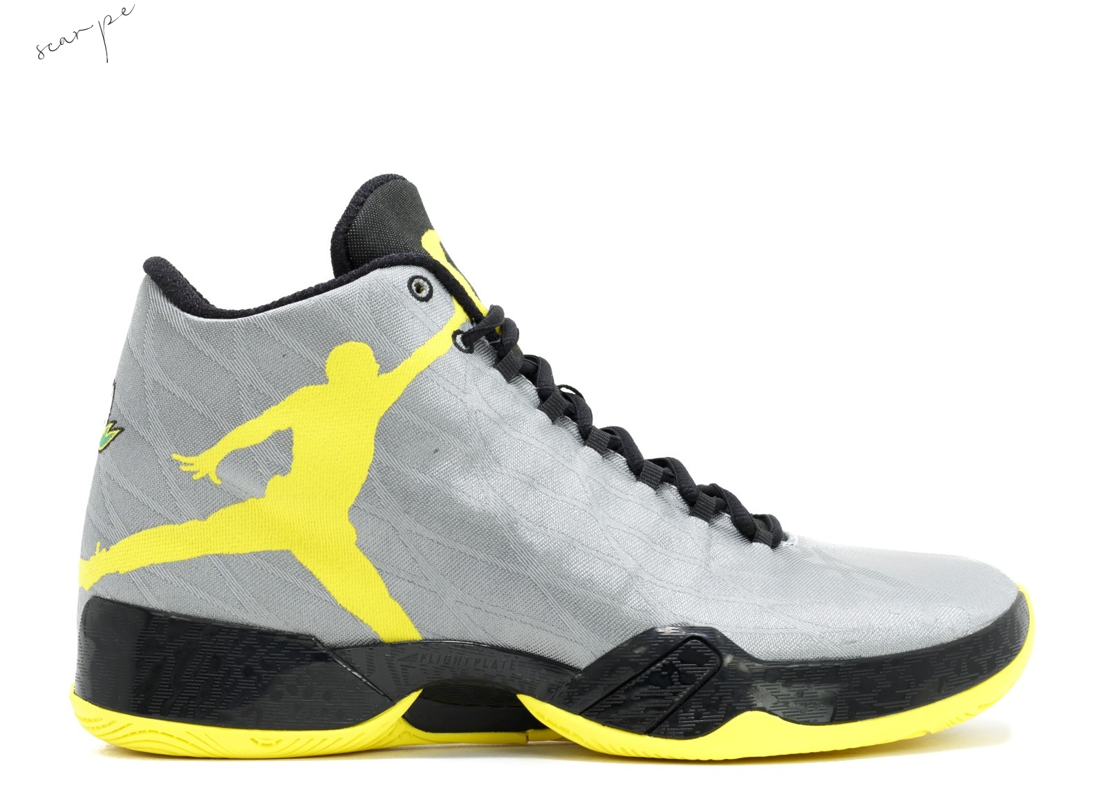 "Vendite Air Jordan 29 Pe ""Oregon Ducks"" Gris Giallo (fa14mnjdsp183) Scarpe Online"