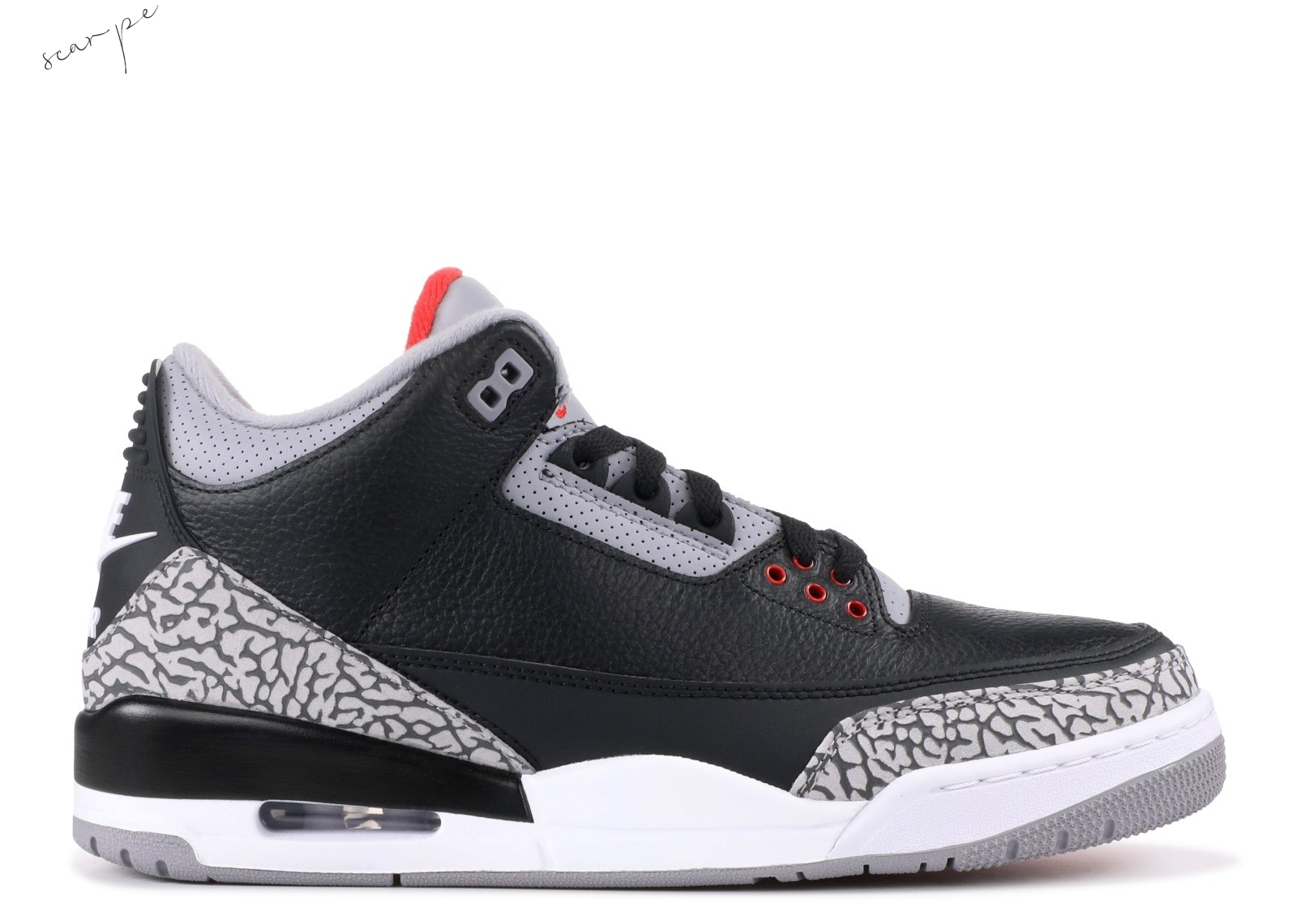 "Vendite Air Jordan 3 Retro Og ""Black Cement"" Nero Gris (854262-001) Scarpe Online"
