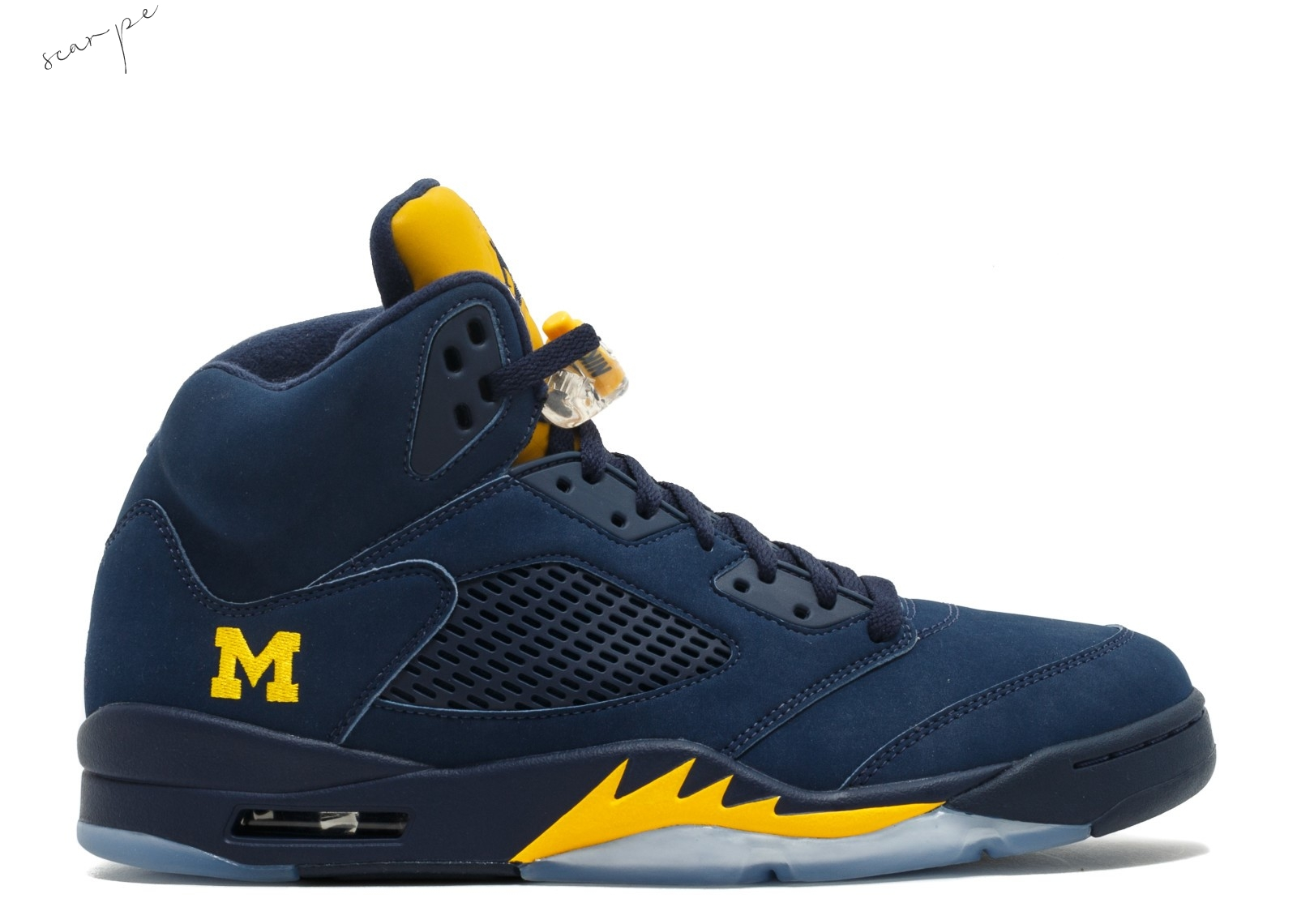 "Vendite Air Jordan 5 Retro ""Michigan Pe"" Navy (645668-636) Scarpe Online"