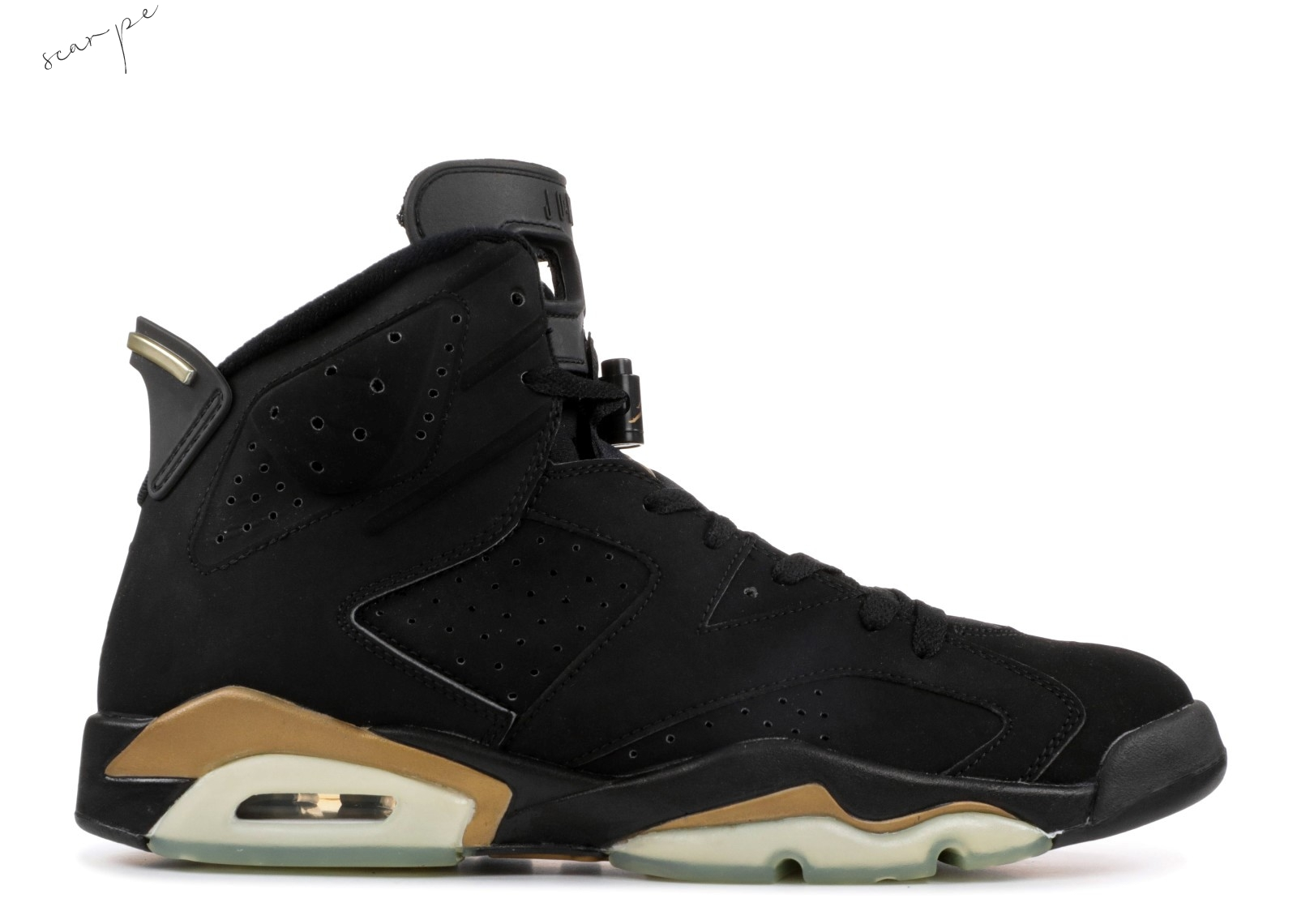 "Vendite Air Jordan 6 Retro+ ""Defining Moments"" Nero Oro (136038-071) Scarpe Online"