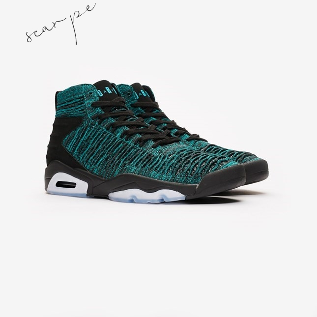 Vendite Air Jordan Flyknit Elevation 23 Verde Nero (aj8207-300) Scarpe Online