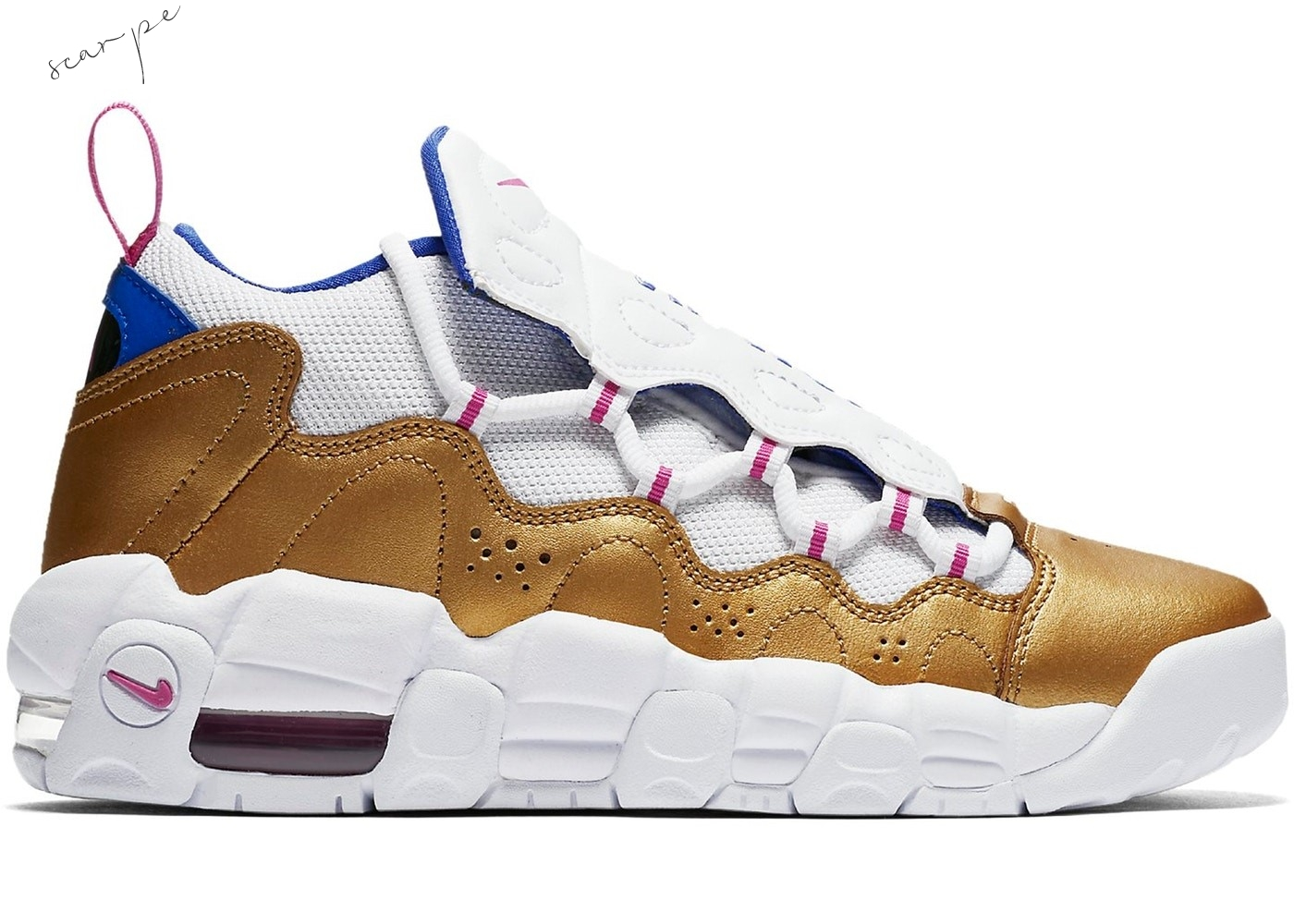"Vendite Air More Money ""Peanut Butter & Jelly"" (Gs) Bianca Oro (ah5215-101) Scarpe Online"