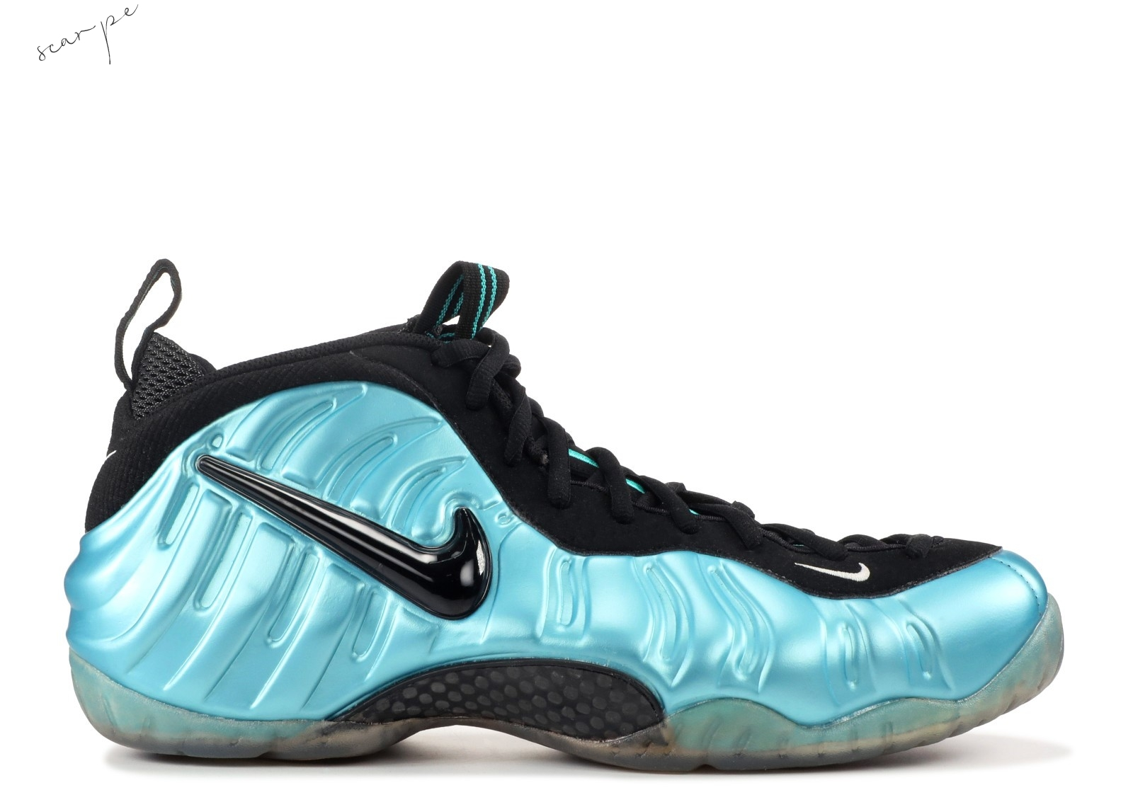 "Vendite Nike Air Foamposite Pro ""Electric Blue"" Blu Nero (624041-410) Scarpe Online"