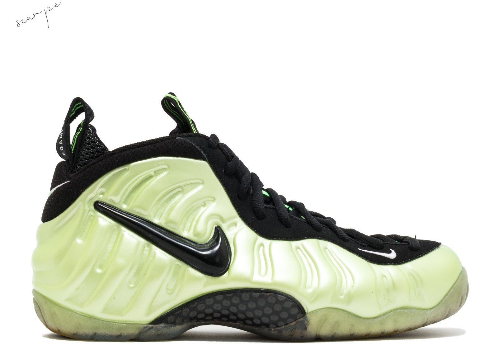 "Vendite Nike Air Foamposite Pro ""Electric Green"" Verde Nero (624041-300) Scarpe Online"
