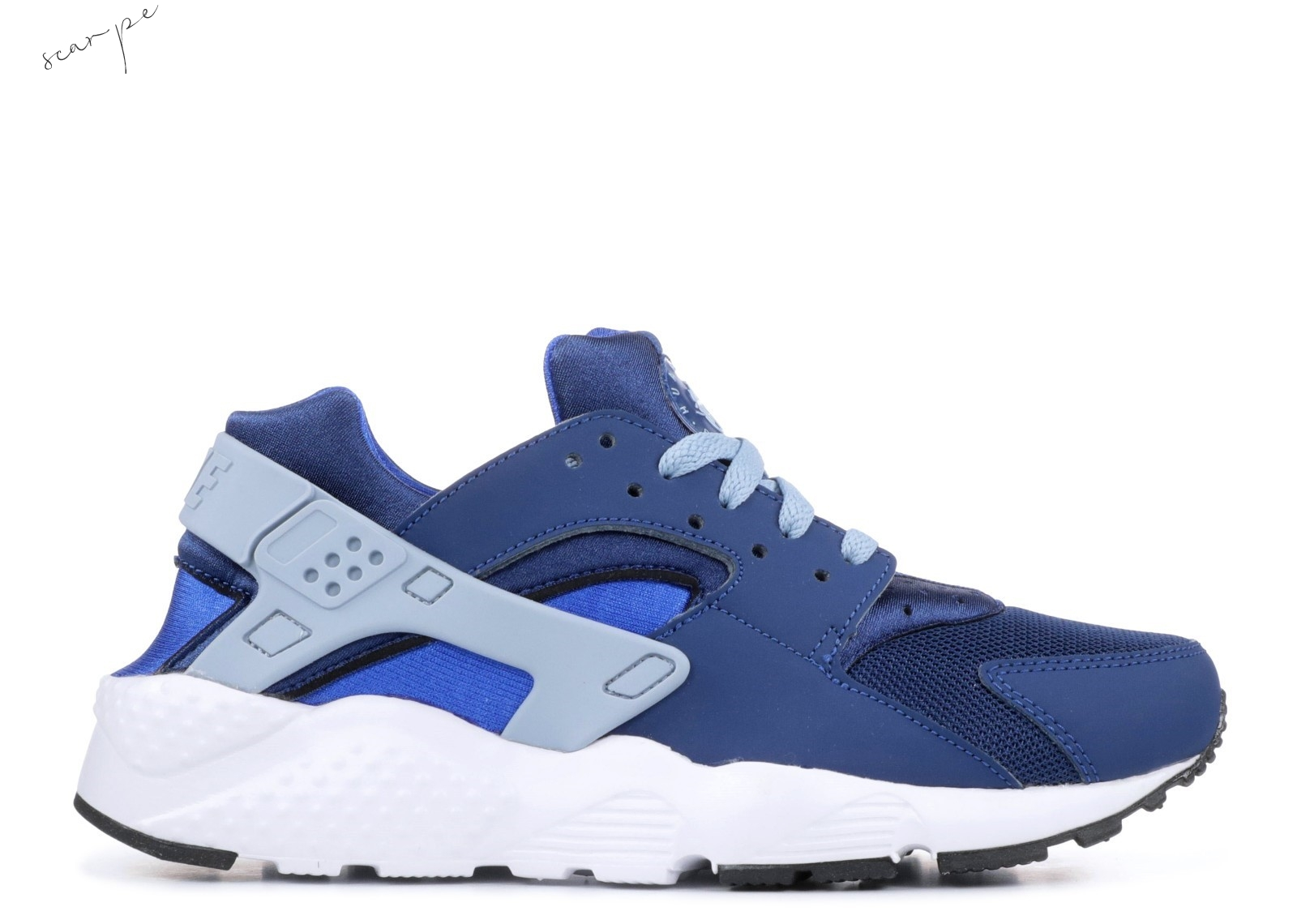Vendite Nike Air Huarache Run Gs Navy (654275-406) Scarpe Online
