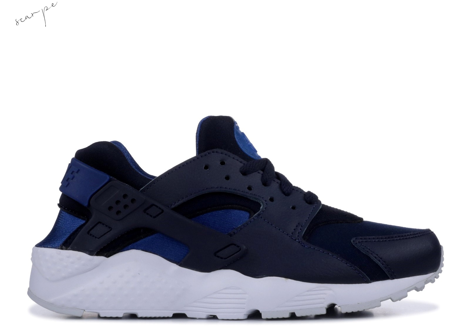 Vendite Nike Air Huarache Run (Gs) Navy (654275-414) Scarpe Online