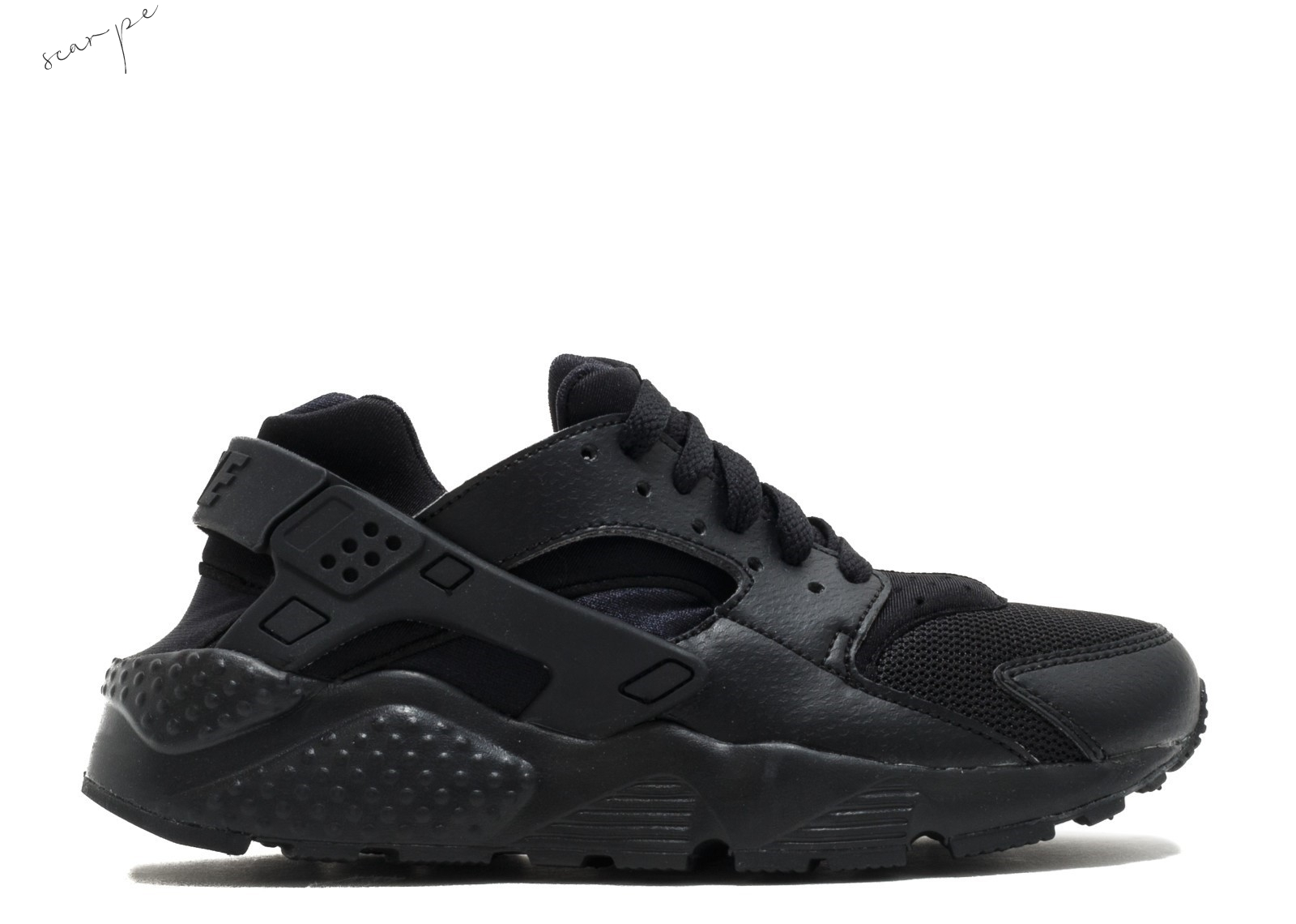 "Vendite Nike Air Huarache Run (Gs) ""Triple Nero"" Nero (654275-016) Scarpe Online"