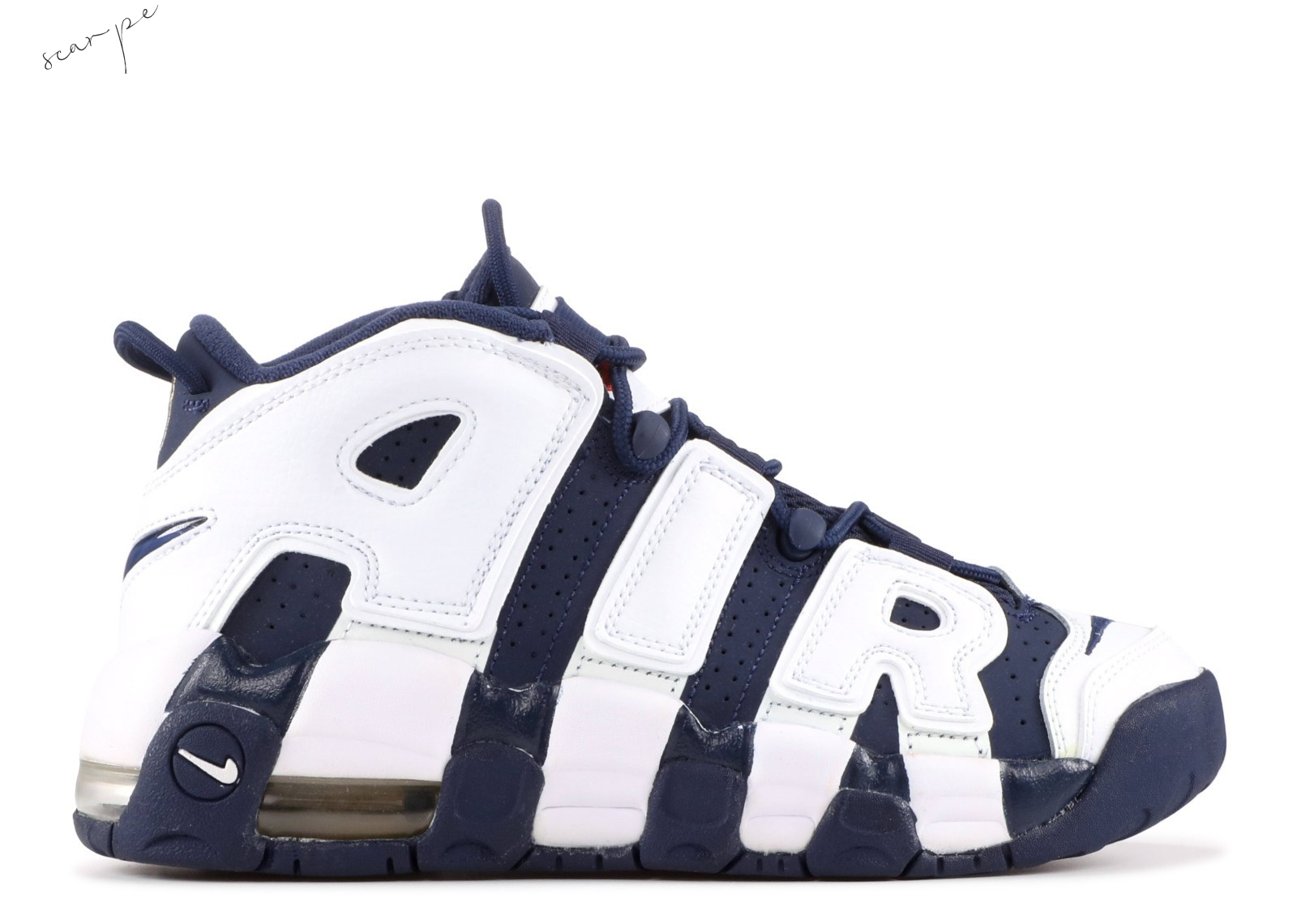 "Vendite Nike Air More Uptempo (Gs) ""Olympic"" Bianca Navy (415082-104) Scarpe Online"