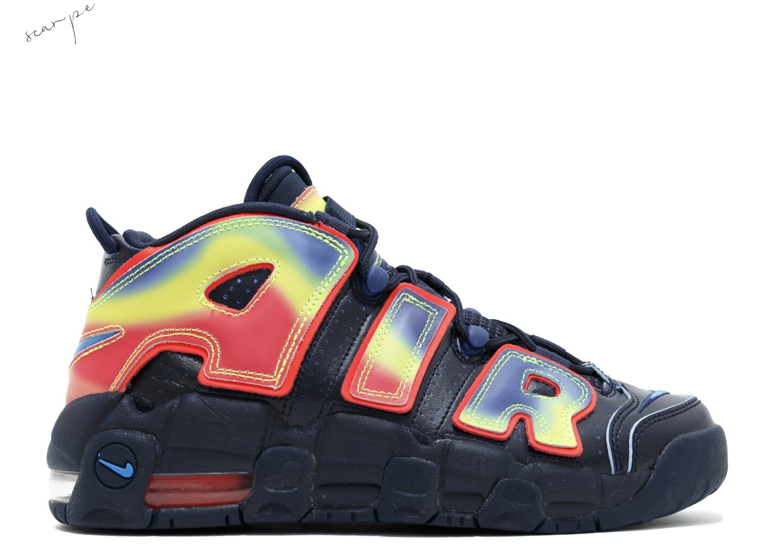 "Vendite Nike Air More Uptempo Qs (Gs) ""Heat Map"" Nero Multicolore (847652-400) Scarpe Online"