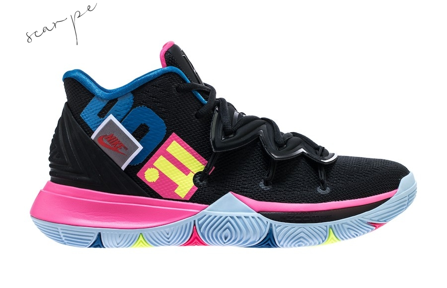 "Vendite Nike Kyrie V 5 ""Just Do It"" Nero Rosa Blu (ao2918-003) Scarpe Online"