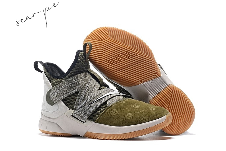 "Vendite Nike Lebron Soldier XII 12 ""Land And Sea"" Oliva Verde Scarpe Online"