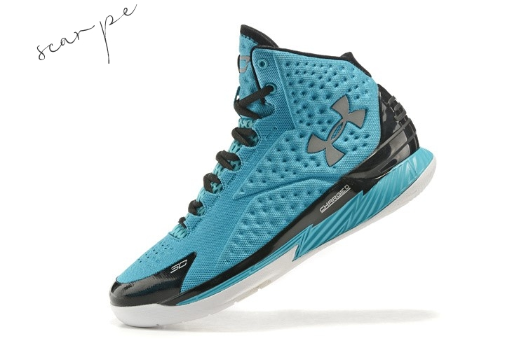 Vendite Under Armour Curry 1 Blu Nero Scarpe Online