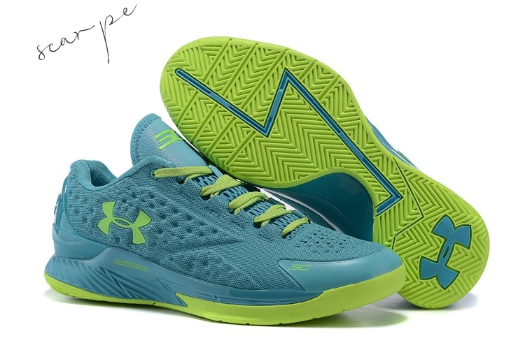 Vendite Under Armour Curry 1 Low Verde Volt Scarpe Online