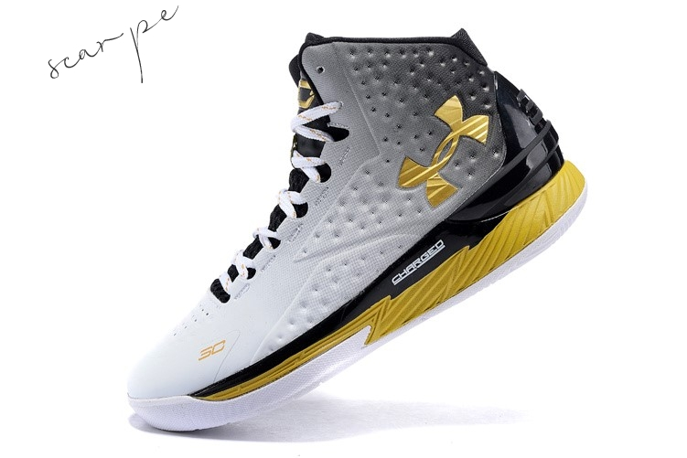 "Vendite Under Armour Curry 1 ""Mvp"" Nero Bianca Oro Scarpe Online"