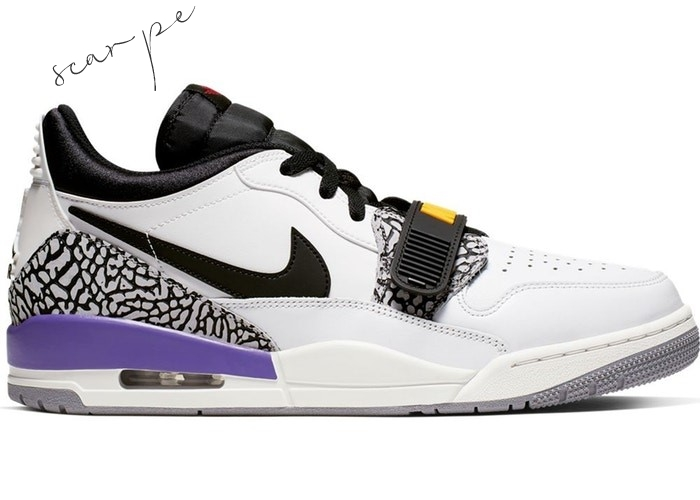 "Vendite Air Jordan Legacy 312 Low ""Lakers"" Nero Bianca Porpora (CD7069-102) Scarpe Online"